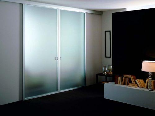 Porta interna scorrevole alluminio vetro - Vetro porta interna ...