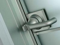 Porta da interno a battente in alluminio e vetro