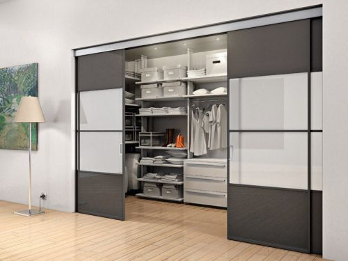 Porta interna scorrevole a scomparsa legno alluminio vetro - Porta interna vetro ...