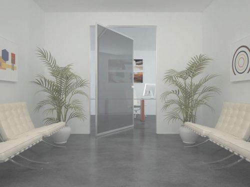 Porta interna a bilico alluminio vetro - Vetro per porta interna ...