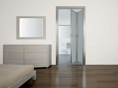 Porta interna a libro alluminio vetro - Porta a soffietto in vetro ...