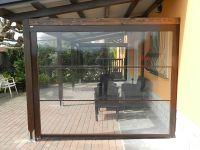 Tenda veranda con Cristal trasparente